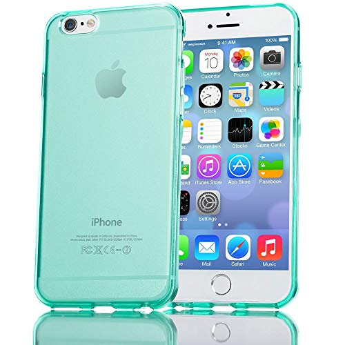 NALIA Handyhülle kompatibel mit iPhone 6 6S, Ultra-Slim Silikon Case Crystal Schutz-Hülle Dünn Durchsichtig, Handy-Tasche Telefon-Schale Back-Cover Skin Thin Smart-Phone Bumper - Türkis Transparent