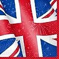 Unique Party Best of British Union Jack Napkins, Pack of 16