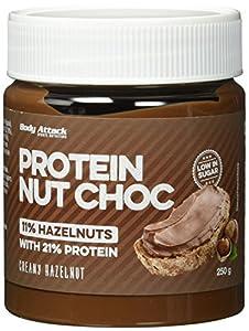 Body Attack Protein Nut Choc, Creamy Hazelnut, 250 g