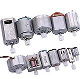 Yeeco Corriente Continua Eléctrico Micro Motor, 12 PCS Motor Conductor Conjunto Céntrico Salida Eje con Engranajes para Tecnología Modelo de Bricolaje