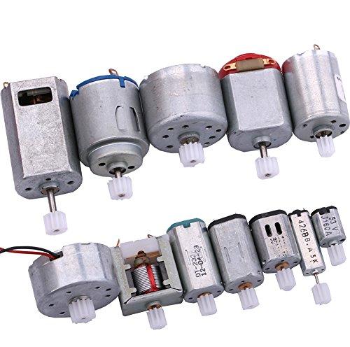 Yeeco DC Elektrisch Mikro Motor, 12 PCS Motor Motor Treiber Set Zentrisch Ausgabe Welle mit Getriebe zum Technologie Modell DIY (Motor)
