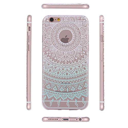 ECENCE APPLE IPHONE 6 6S (4,7) COQUE DE PROTECTION HOUSSE CASE COVER 41020404 Mandala turquoise