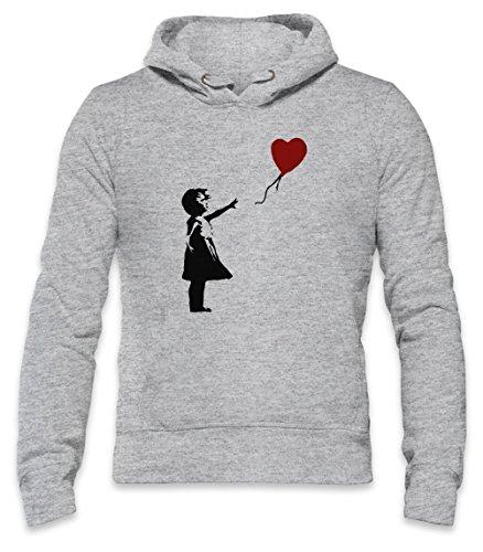 Banksy Balloon Girl Mens Hoodie Large