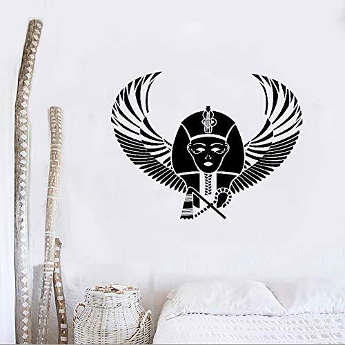 Pharao Ägypten Pyramide Flügel Wandaufkleber Vinyl Aufkleber Wandbild Schlafzimmer Design Muster Wandtattoo Abnehmbare Tapete Kunst DecorL 70 cm x 56 cm