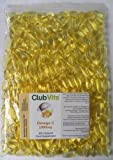 Club Vits Omega-3 Fish Oil Concentrate 1000mg - 365 Capsules - GRIP SEAL BAG by Club Vits Ltd