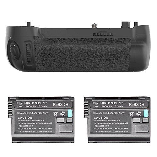 Neewer® Batteriegriff Ersatz für MB-D16 +2 * Wiederaufladbare Ersatz für EN-EL15 Li-Ionen-Akku 7,0 V 1900mAh für Nikon D750 (Verschluss Spannung-kit)