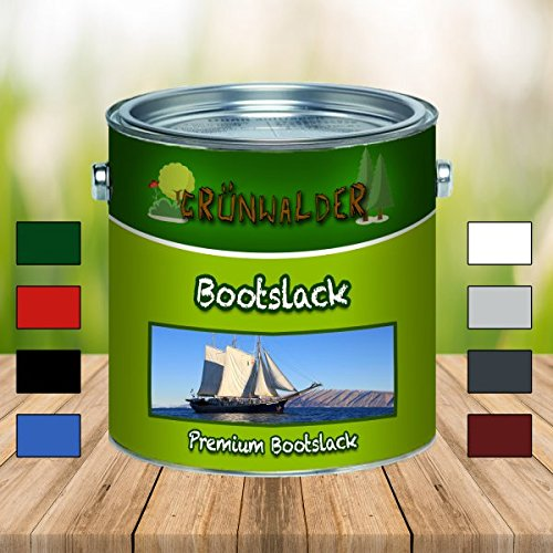 Grünwalder Bootslack premium YachtlackPolyurethanlack verstärkte Bootsfarbe Parkettlack