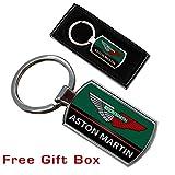Cargifts Aston Martin Schlüsselanhänger Ring Schlüsselanhänger Metall Chrom Neues Geschenk