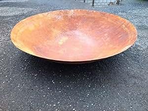 Pianta guscio Braciere 60cm, Ruggine