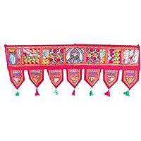 Rastogi artesanías bordado Patchwork para colgar en puerta Toran Ethnic ventana Valance Decoración del hogar vintage