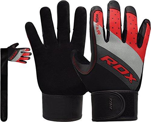 RDX Fitness Handschuhe Wettbewerb Trainingshandschuhe Handgelenkschutz Gewichtheben Crossfit krafttraining Sporthandschuhe Bodybuilding Rindsleder Workout Gym Gloves