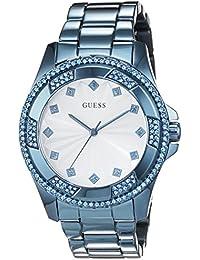 Guess  W0702L1 - Reloj de lujo para mujer, color blanco / azul
