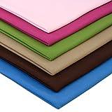 Neumann Handelsvertrieb 6 x 0,25m Bündchenstoff Uni Schlauchware 150 cm (2 x 70 cm als Schlauch) 96% Baumwolle 5% Elasten insgesamt 1,5 m Bündchen (Buntes Paket)