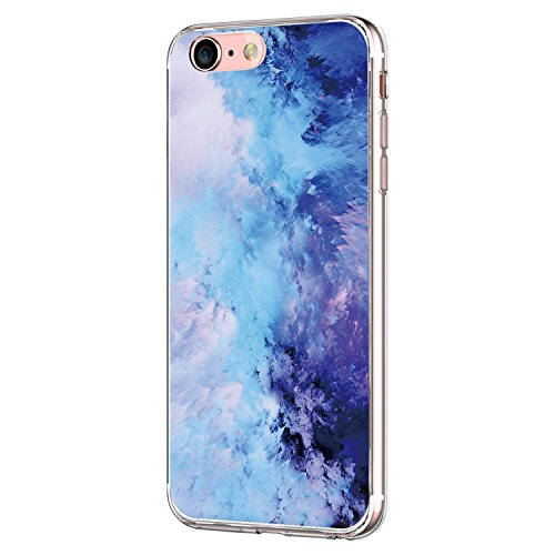 Pacyer Case kompatibel mit iPhone 7 Hülle iPhone 8 Hülle Silikon Ultra dünn Transparent Handyhülle Durchsichtige Rückschale TPU Schutzhülle für Apple iPhone 7/8 Cover Marmor (23) Liebe Bumper Case