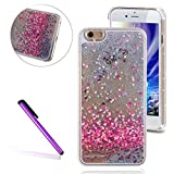 EMAXELERS iPhone 4 Coque Bling Diamnt Glitter Cristal Slim Liquied Liquid Flowing...