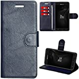 Zaoma Diary Wallet Type Flip Flap Case Cover for Panasonic Eluga A4 - Leatherette Blue