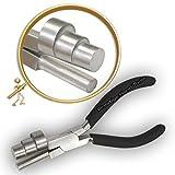 Wrap n rubinetto 3 un passo che formano pinza Varie misure pinza da oreficeria a testa curva 13 x 16 x 20 mm Prestige