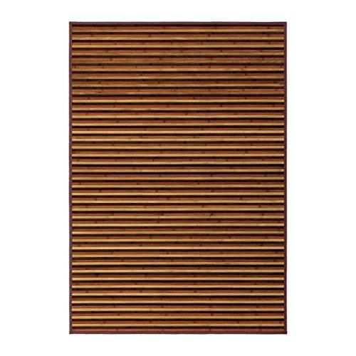Alfombra de salón árabe marrón de bambú para decoración de 140 x