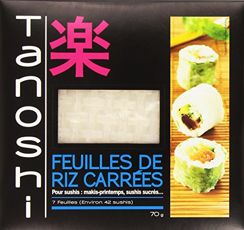 Tanoshi Feuilles de Riz Carrées 70 g