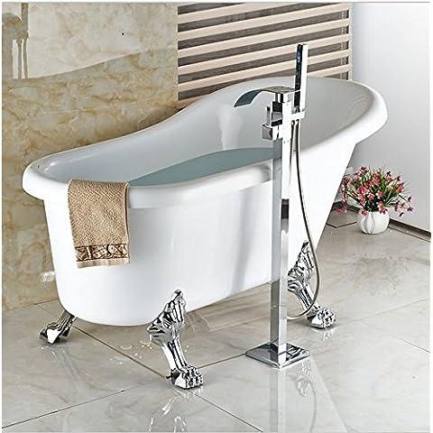 GOWE pavimento-Rubinetto a cascata per vasca da bagno con doccetta, rubinetto Miscelatore indipendente per vasca da bagno