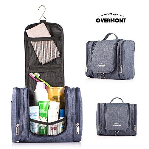 Overmont Kulturbeutel Waschtasche Kulturtasche zum Aufhängen für Herren Damen 24*12,5*23cm