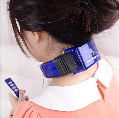 Nacken Und RüCkenmassagegeräT Cervical Massager Konstante Temperatur HeißE KompresseElektroimpuls Ring Zervikalen Zugkraft