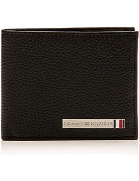 Tommy Hilfiger - Th Plaque Mini Cc Wallet, Carteras Hombre, Negro (Black), 1.5x9x11 cm (B x H T)
