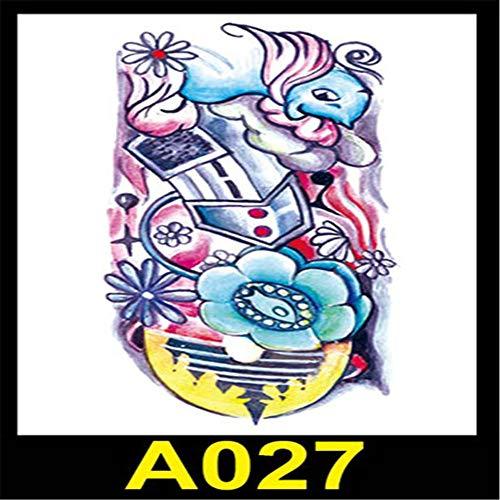 Handaxian 2pcs-Hot Flower Arm Tattoo Aufkleber Wasserdicht Taro Squid Beauty Flower Arm Kreative Tätowierung 2pcs-36 -