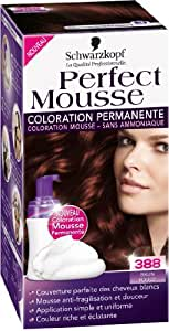 Schwarzkopf - Perfect Mousse - Coloration Permanente - Brun Rouge 388