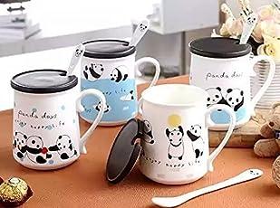 Satyam Kraft Ceramic 1 Piece Panda Printed Mug(White)