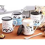 Satyam Kraft Ceramic(1 PIECE)White Panda Printed Mug For Kids/coffee Mug/ceramic Mug/mug/gifts/birthday Return/gift For Kids/gift For Birthday/gift For New Year/gifts/panda Design Mug(RANDOM DESIGN)