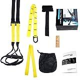 LIHAO Schlingentrainer Suspensiontrainer Pro Functional Training Fitness Gelb/Schwarz