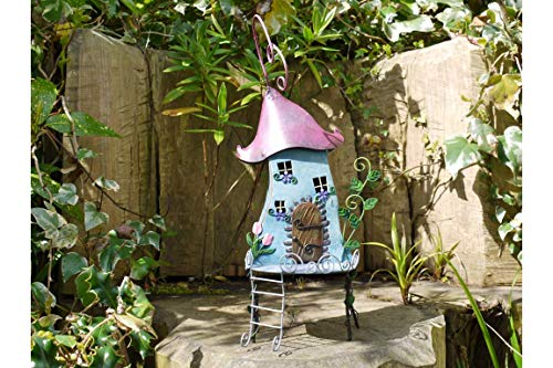 51fQLD3CkQL - Ablerhome Decor Elfe Teekanne Haus Baum Häuser Dooways Garten Ornament Elfe Metall Home Skulptur Dekor