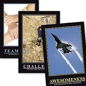 Barney Stinson Büro Set I Office Poster/Plakate How I Met Your Mother - Teamwork, Challenge, Awesomeness - Motivationsposter + Ü-Poster