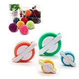 Pom Pom Maker,Efly 4 Pcs Different Sizes DIY Fluff Ball Weaver Needle Craft PomPom Maker and Wool Knitting Craft Tool Set Pom-pom Maker for Your Child and You