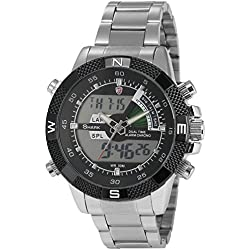Shark Mens Digital Analog Lcd Chronograph Date Day Army Sport Quartz Watch + Box SH047