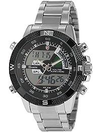Shark SH047 - Reloj Hombre de Cuarzo, Correa de Acero Inoxidable Plateado