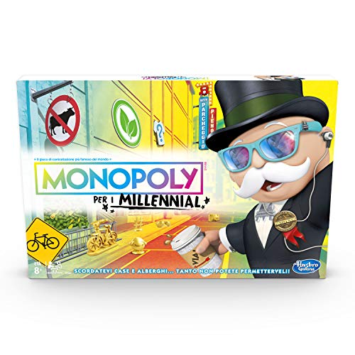 Hasbro Monopoly- Juego Monopoly para los Mileníales, Multicolor, E4989103
