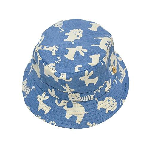 Mechhre Bob bébé /enfant été chapeau de soleil salaire anti uv loisir outdoor plage (Bleu, 1-2 Ans)