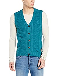 U.S. Polo Assn. Men's Woolen Sweater (8907163195593_USSW0399_Emerald Melange_S)