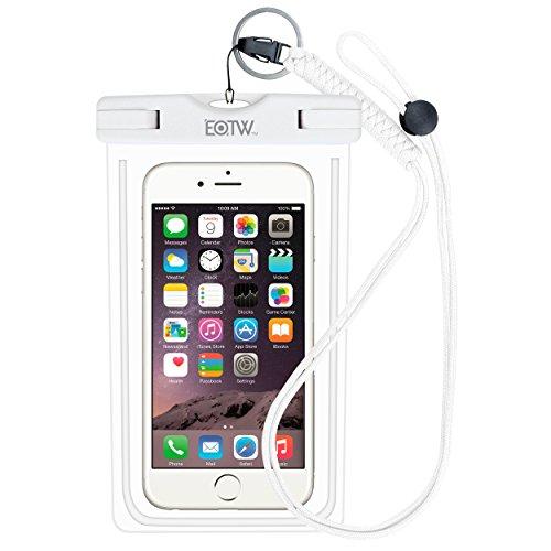 r Handy Hülle, Handyhülle Wasserdicht Kompatibel mit Samsung Galaxy S9/S8/S7/S7edge/Note8, Huawei P20 lite/P 8 lite, iPhone X/7Plus/6 usw. bis 6,5 Zoll, White ()
