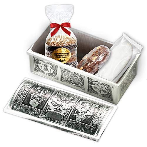 Geschenktruhe Weihnachtsgrüße, mit Lebkuchen, Christstollen und Gebäck; 690g