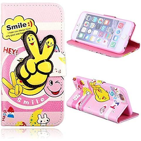 Uming® 3D Botón cerrojo Hebilla linda de la historieta Modelo colorido de impresión caso de la PU para LG G3 D857 Patrones Dibujo Impresión Voltear Funda con ranura soporte Stander Holder mano la tarjeta de crédito Free Hole Shell protector móvil del teléfono celular del bolso del caso de la cubierta --- Finger - Pink