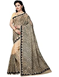 Rani Saahiba Art Noil Net Ari Embroidered Saree (SKR3662_Beige)