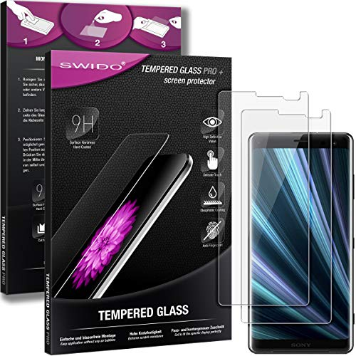 SWIDO Panzerglas Bildschirmschutzfolie kompatibel mit Sony Xperia XZ3 (2 Stück) - 9H Panzerglas Folie, HD, Panzerfolie, Tempered Glass Schutzglas, Schutzfolie, Glas, Bildschirmschutz, Ultra-Clear