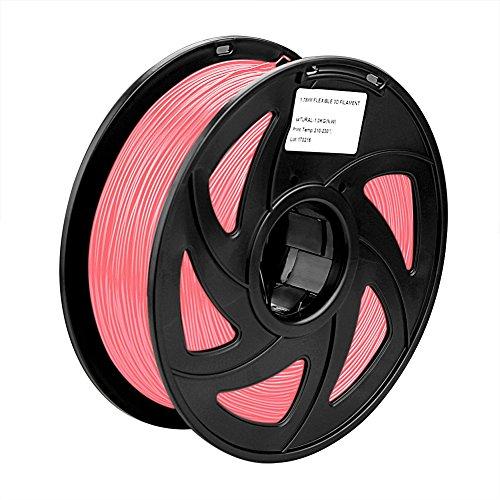 SIENOC 1 Packung 3D Drucker PLA 1.75mm Printer Filament - Mit Spule 1kg (Rosa)