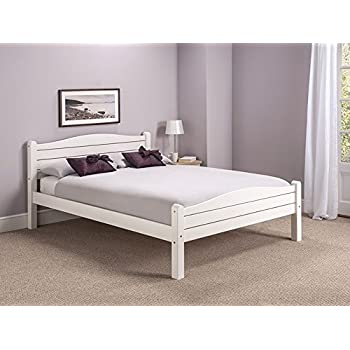 City Block 3ft Single White Modern Metal Bed Frame Amazoncouk