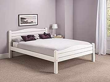 snuggle beds elwood white 4ft6 double bed frame amazoncouk kitchen home