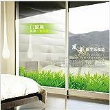 LETAMG Wandsticker Frisches Grünes Gras Pflanze Taille Linie Farbe Wandaufkleber Ausgangsdekor Sockelleiste Badezimmer Küche Wohnzimmer Fenster