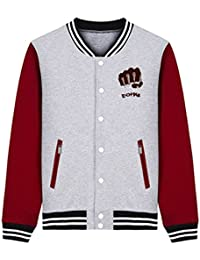 Bromeo One Punch Man Anime Unisexo Béisbol Uniforme Manga Larga Chaqueta Coat